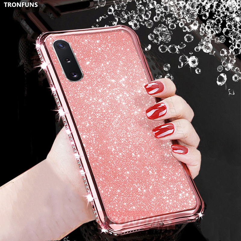 Soft Glitter Diamond <font><b>Case</b></font> For Samsung Galaxy A50 A70 A30 A40 A10 A20 A90 A51 A71 A30S A20E Note10 S20 S10 S9 <font><b>S8</b></font> Plus Cover Capa image