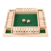 Board-Game-Set Dice Shut-The-Box Party Deluxe Adults 10-Numbers Families Club for Four-Sided