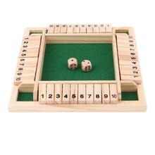 Deluxe Four Sided 10 Numbers zamknij tablica zestaw gier kości do klubu na imprezę gry do picia dla dorosłych rodzin