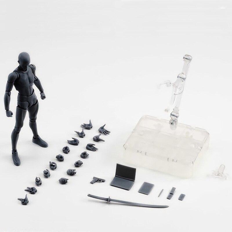 Anime arquétipo ele ela ferrite desenho móvel figuras modelo brinquedos corpo chan pvc figura de ação modelo brinquedos boneca collectible