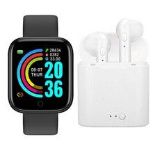 VIP Link Y68 Smart Watch And i7s Wireless Bluetooth Earphones Set