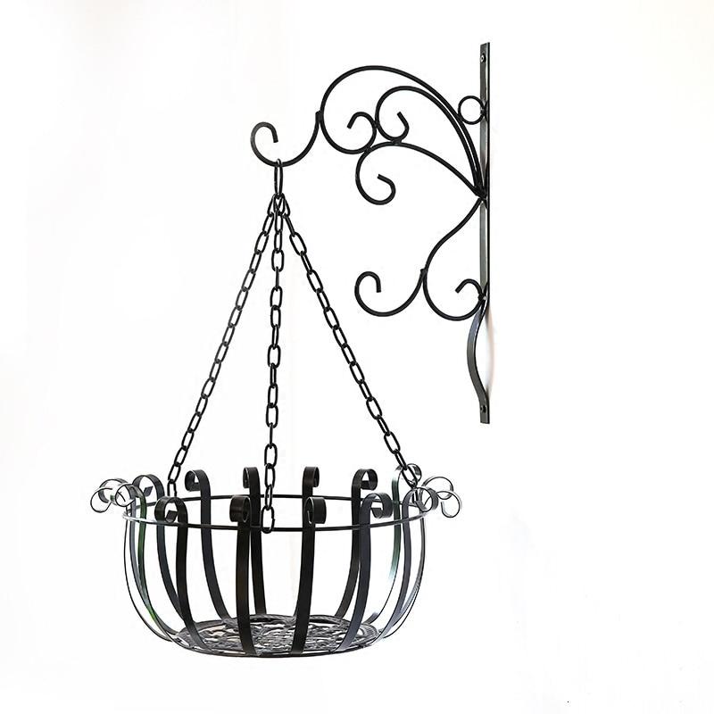Balcony Living Room Chlorophytum Flowerpot Pylons Hanging Basket Suspension Art Bracket Flower Rack