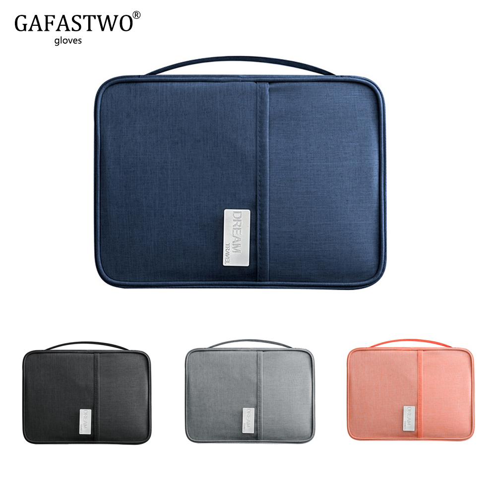 Waterproof Handbag Passport Holder Travel Wallet Multi-Function Credit Card Package Multi-Card Storage Pack Zipper Organizer