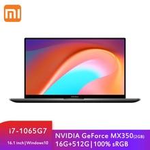 Xiaomi RedmiBook 16 Ordinateur Portable Intel Core i7-1065G7 MX350 16 GO DDR4 512 GO SSD 16.1 Pouces FHD Ordinateur Portable 100% sRGB Windows 10