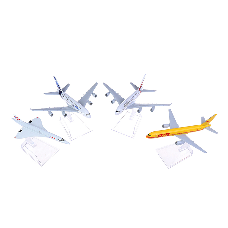 4Styles Concorde Plane Model Airplane Diecast Aircraft Aeroplane Toys Gifts image