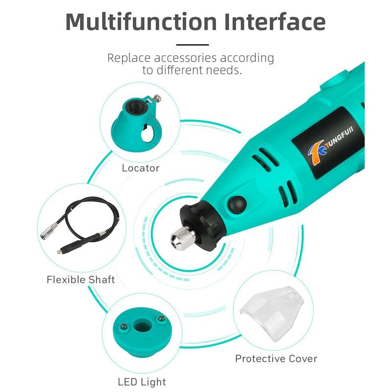 ชุดสว่านไฟฟ้าขนาดเล็ก เครื่องเจียรไฟฟ้า เจียรไนงานช่างจิวเวลรี่ สว่านโรตารี่ เจาะ ขัด เครื่องมือช่าง งานฝีมือ DIY