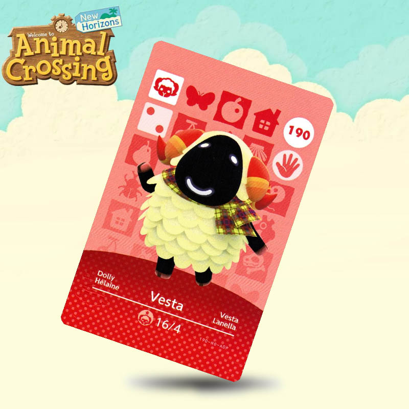 190 Vesta Animal Crossing Card Amiibo Cards Work For Switch NS 3DS Games