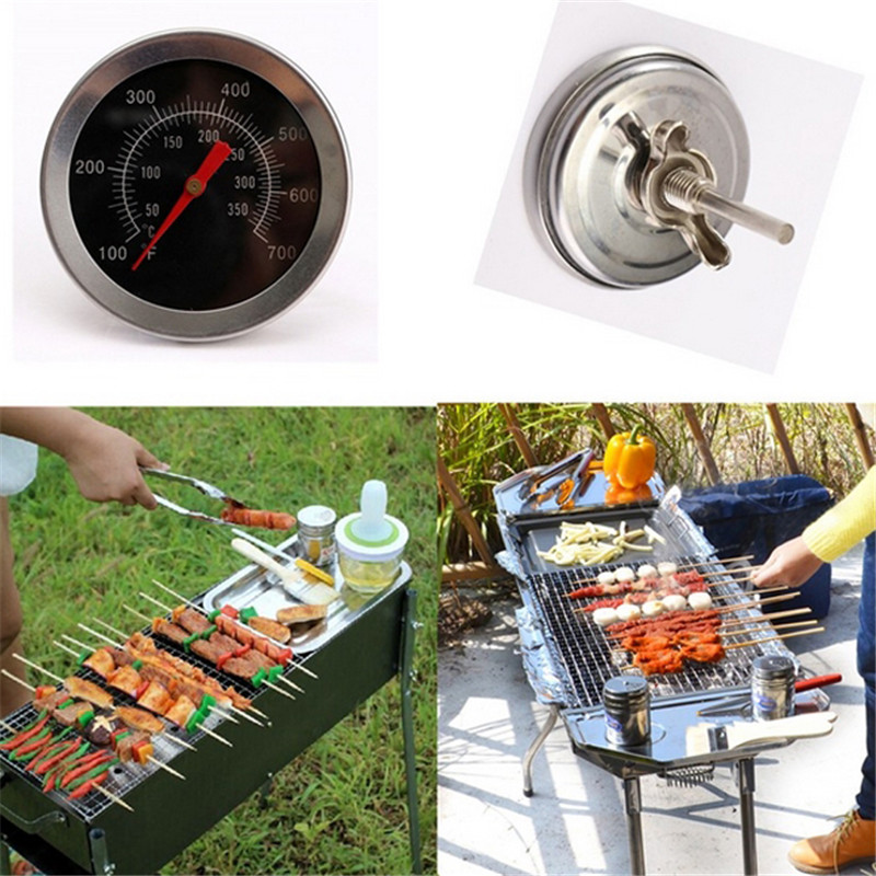 Stainless Steel BBQ Accessories Grill Meat Thermometer Dial Temperature Gauge Gage Cooking Food Probe Kitchen Tools