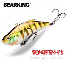 BEARKING 75mm15g Top professional Wobblers fishing tackle fishing lures vibration bait for ice fishing Artificial accessories