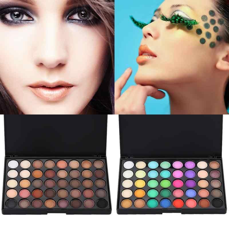 Paleta de sombras pigmentadas cintilantes, 40 cores, paleta de sombras pigmentadas com glitter, enfumaçado e arco-íris, cosméticos, tslm2