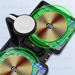 Image 4 - 3 で 1 ワイヤレス充電ドックステーションiphone 11 airpodsプロワイヤレス充電充電器磁気appleの時計シリーズ 5 4 3 2
