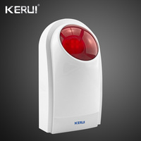 Kerui Wireless External Outdoor Waterproof Flash Siren Sound Strobe Flash Alarm Siren Wifi GSM PSTN Home Security Alarm System