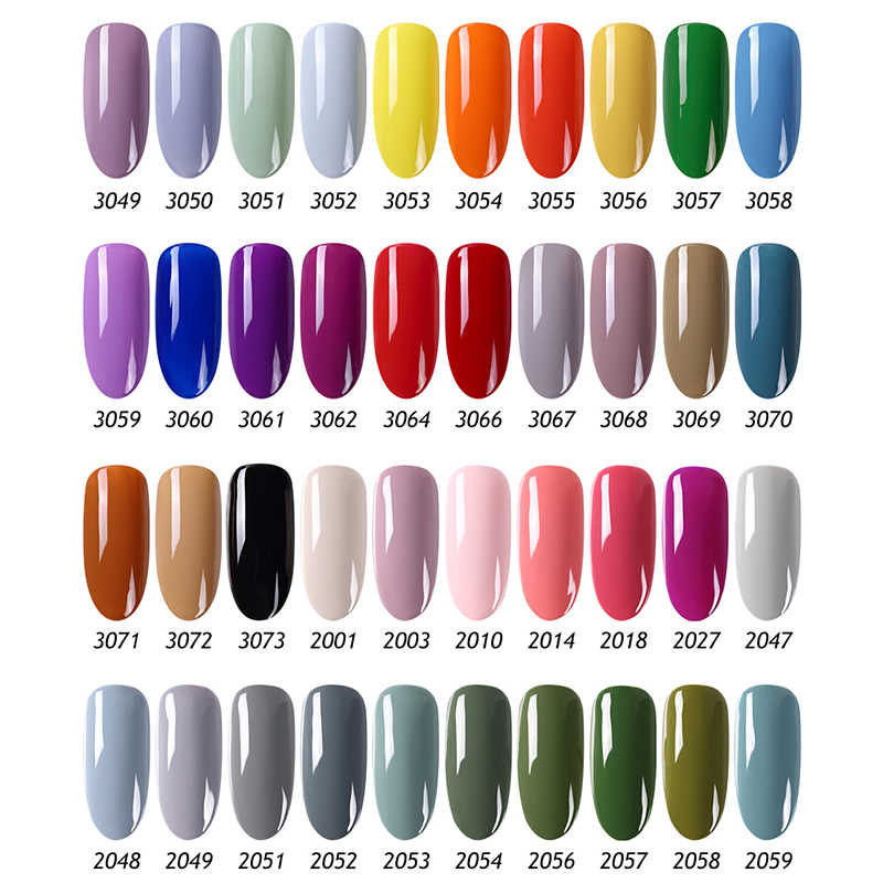 Clou Beaute 8 Ml Uv Gel Nail Polish Warna Kuku Gel Rendam Off UV Hybrid Gel Lacquer Rendam Off tahan Lama Nail Art Gel Varnish