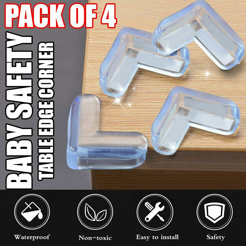 4pcs Baby Child Safety Protect Table Desk Corners Cushion Guard Bumper Thickened Guard Mat Safe Crash Protection Cover Pads