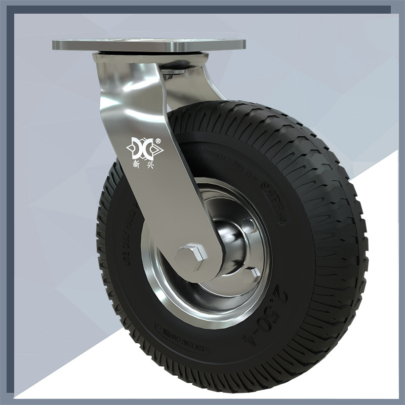 Caster 6 /8/10 Inch Inflatable Rubber Wheel Universal Heavy Vientiane Hotel