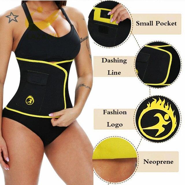 LAZAWG Waist Trimmer Belt Waist Eraser Sauna Sweat Band Waist Trainer for Weight Loss Slimming Body Shaper Sports Girdle Workout 2