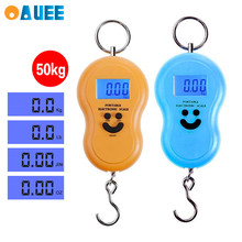 50Kg Mini Digital Scale For Fishing Luggage Travel Weighting kitchen Steelyard Hanging Electronic Hook Scale KG/LBS/JIN/OZ