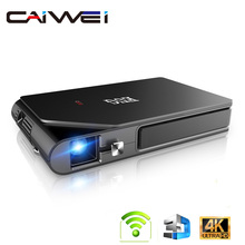 D5W Mini Pocket WiFi DLP Projector With Battery Support 1080