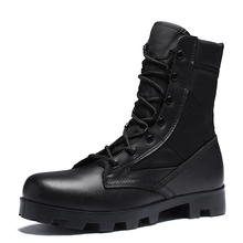 Men Military Tactical Hiking Boots Winter Leather Black Special Force Desert Ankle Combat Safety Work Shoes Army