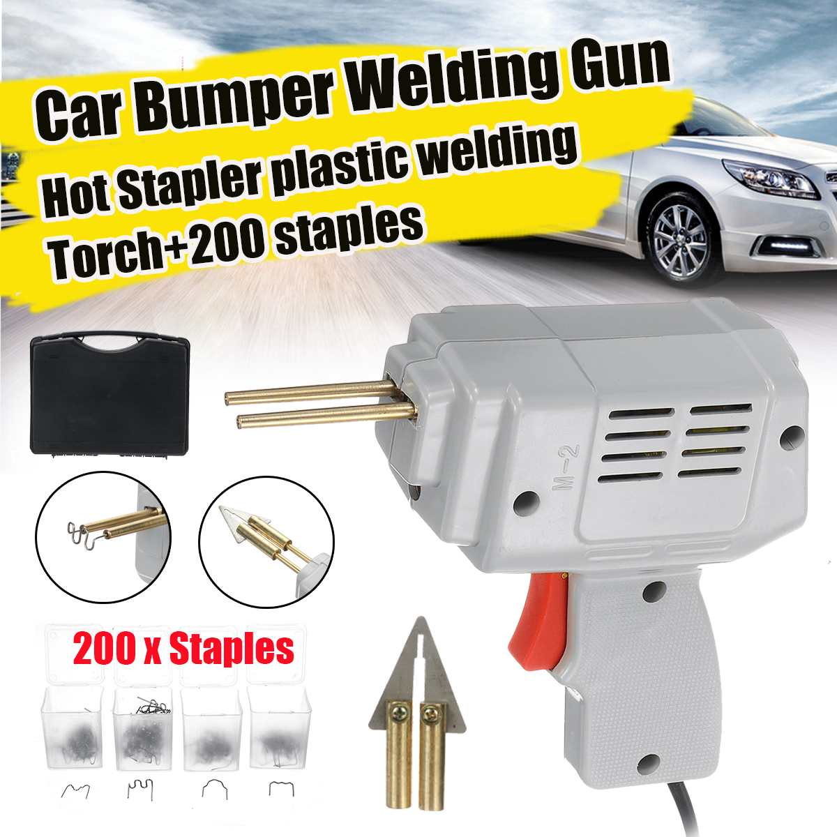220v Handy Plastic Welder Garage Tools Hot Stapler Car Bumpe Plastic Welding Torch Repairing Machine Car Bumper Repair
