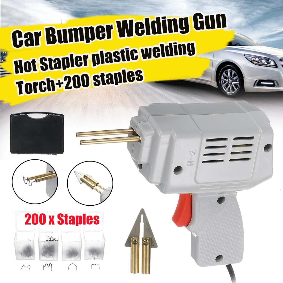 220v Handy Plastic Welder Garage Tools Hot Stapler Car Bumpe Plastic Welding Torch Repairing Machine Car Bumper Repair