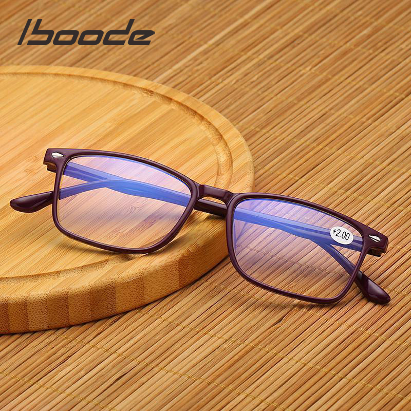 Iboode TR90 Ultralight Frame Reading Glasses Anti Blue Ray Presbyopic Eyewglasses Men Women Presbyopia With Diopter +1.0 To 4.0