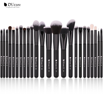 DUcare Black 24pcs Professional Makeup Brushes Set High Quality Make Up Brushes Professional Natural goat hair make up brushes 1