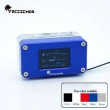 Freezemod detector de temperatura, refrigeração de água, velocidade de fluxo de água, dupla g1/4 fêmea, display de cristal líquido LSJ ZN