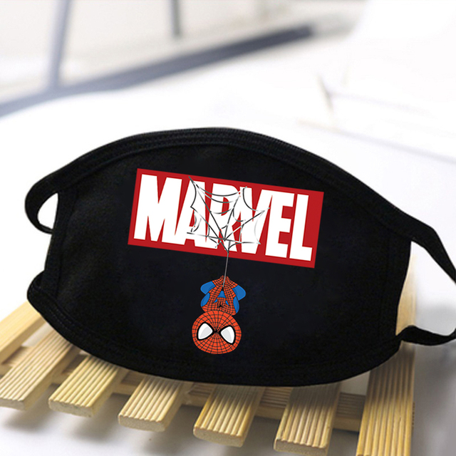 Marvel Cute Groot Print Face Mask The Avengers Cartoon Black Washable Half Face Mouth-Muffle High Quality Reusable Outwear Maske