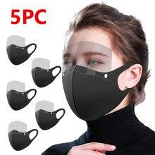 Adulto algodão máscara protetora facial ao ar livre máscara protetora com olhos escudo reutilizável máscara de proteção respiratoire a50