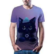 2020 sıcak yaz 3D güneş erkek rahat kısa kollu o-ring boyun erkek gömleği renkli moda güneş 3D T-shirt