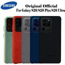 Samsung S20 Ultra etui oficjalna oryginalna prawdziwa skóra zamszowa ochraniacz Samsung S20 Plus S20 + etui do etui Galaxy S20