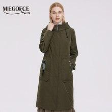 MIEGOFCE – veste coupe-vent imperméable à capuche pour femme, manteau de printemps avec poches plaquées, Collection 2021