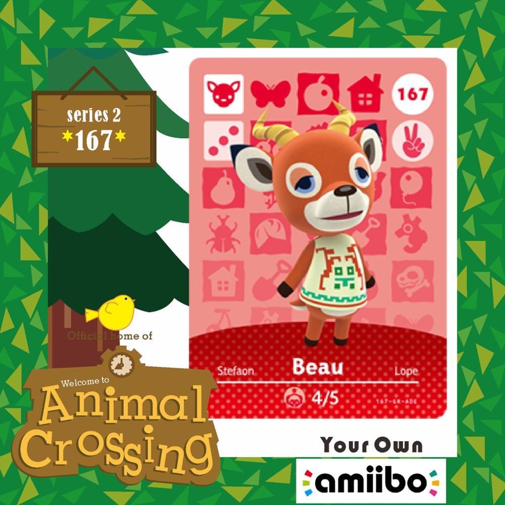 Animal Crossing Amiibo New Horizons Villager Card 167  Animal Crossing Amiibo Villager Card Beau Series Season Set 2