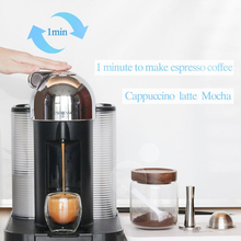 Stainless Steel Coffee Capsule Recycling Dome Filter Shell With 8ML Spoon And Small Brush Coffee Utensils HOT SALE