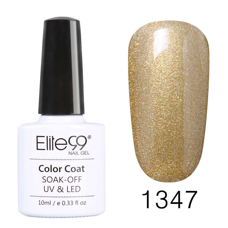 Elite99 10ml arte de uñas Color puro esmalte de uñas de Gel UV empapa de la capa Base superior lámpara UV para uñas manicura Gel de larga duración barnices
