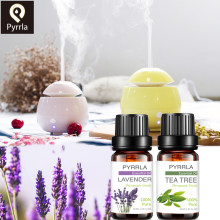 Pyrrla 10MLน้ำมันนวดHumidifierชาต้นไม้สีส้มRose Peppermint Eucalyptus Lemongrass Lavender Ginger Aroma(China)