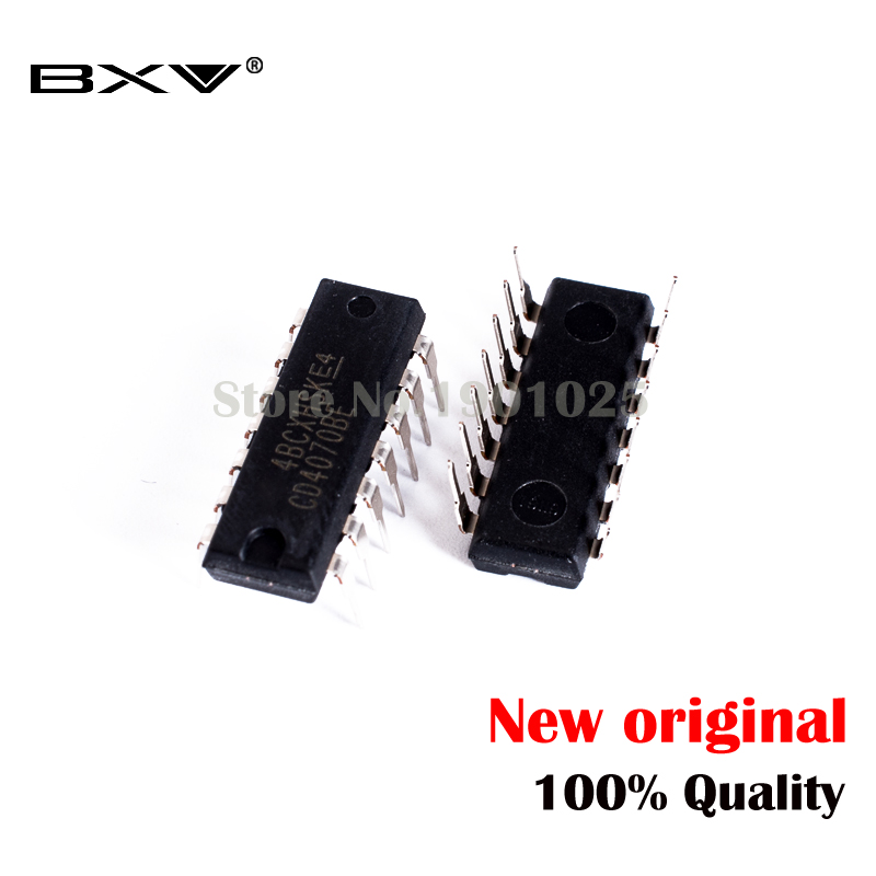 10pcs/lot CD4070BE DIP14 <font><b>CD4070</b></font> DIP 4070BE DIP-14 new and original IC In Stock image