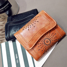New Arrival Wallet Short Women Wallets Zipper Purse Hollowing Out Fashion Panelled Wallets Trendy Coin Purse Card Holder Leather