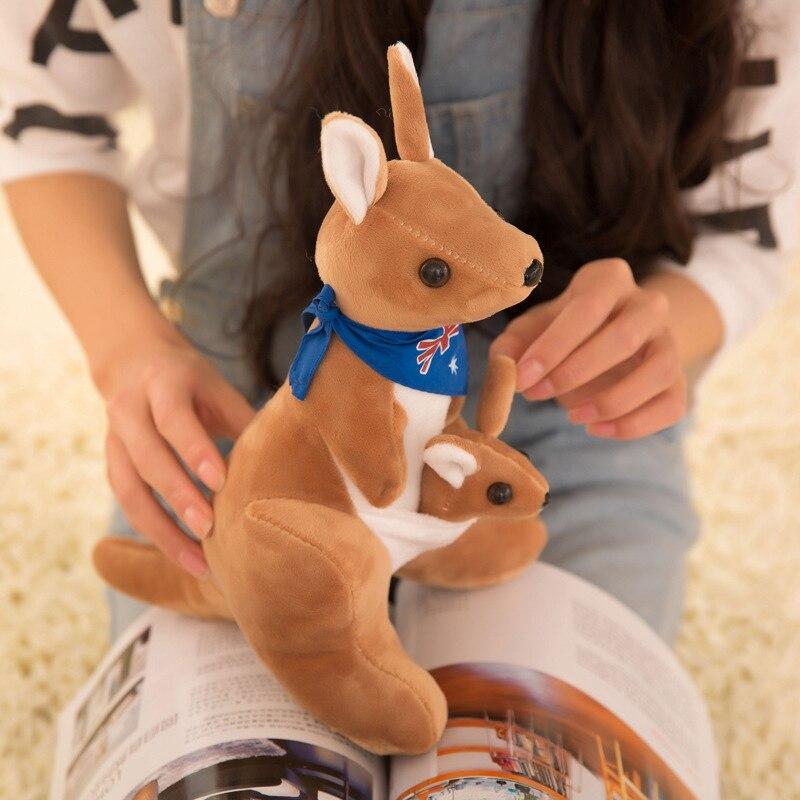 25cm  Cute Lovely Soft  Plush Doll  Australian Mother And Child Kangaroo Plush Toys Baby Toys Birthday Gift For Kids Children