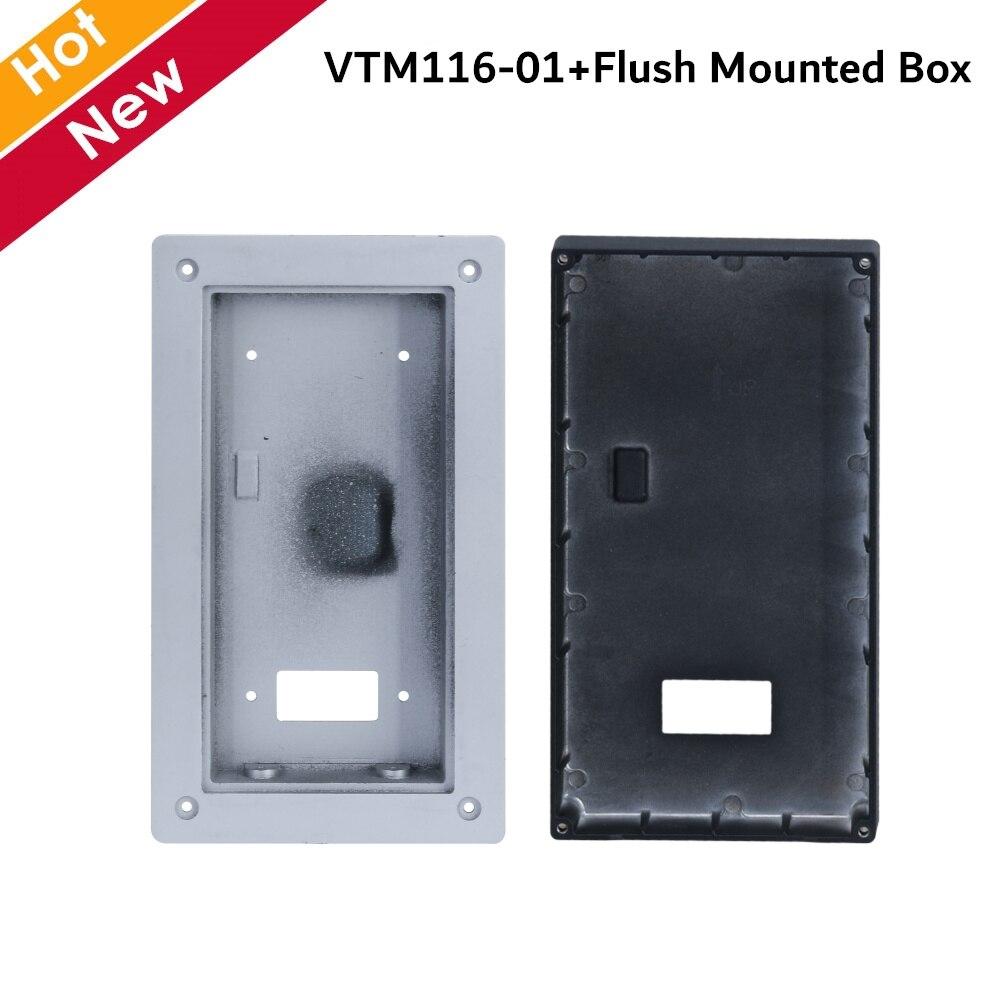 Dahua VTO6221E-P IP estación exterior 2MP CMOS Cámara Placa de aleación de aluminio H.264 micrófono omnidireccional para intercomunicadores
