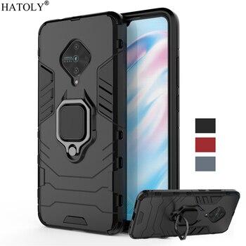 Перейти на Алиэкспресс и купить Чехол vivo S1 Pro, чехол, ТПУ бампер, магнитное кольцо, держатель, жесткий защитный чехол, задняя крышка, чехол для vivo S1 Pro, чехол для телефона, для ...