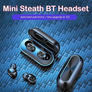 Image 5 - Auriculares inalámbricos B5 TWS Bluetooth 5,0 con Control táctil, auriculares de música estéreo 9D resistentes al agua con batería externa de 300mAh