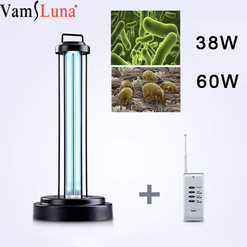 38W 60W UV Quartz Germicidal Sterilization Light Ozone Lamp Ultraviolet Bulb For Disinfect Bacterial Kill Mites Bacteria
