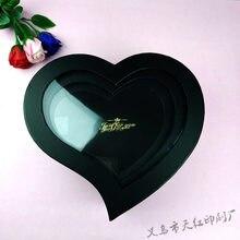 Peach heart gift box hot silver PVC immortal flower box three piece heart-shaped gift box gift for mother girlfriend teacher