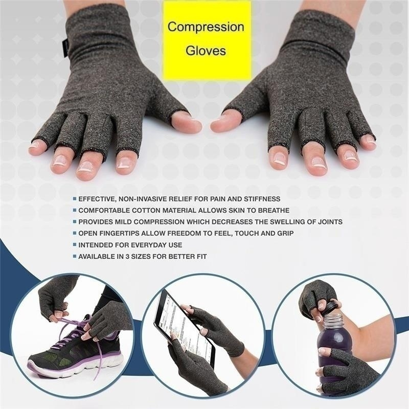 H2934c829ea2445e89fa3d7ffff5c763c8 - 1 Pairs Arthritis Gloves Touch Screen Gloves Anti Arthritis Therapy Compression Gloves and Ache Pain Joint Relief Winter Warm