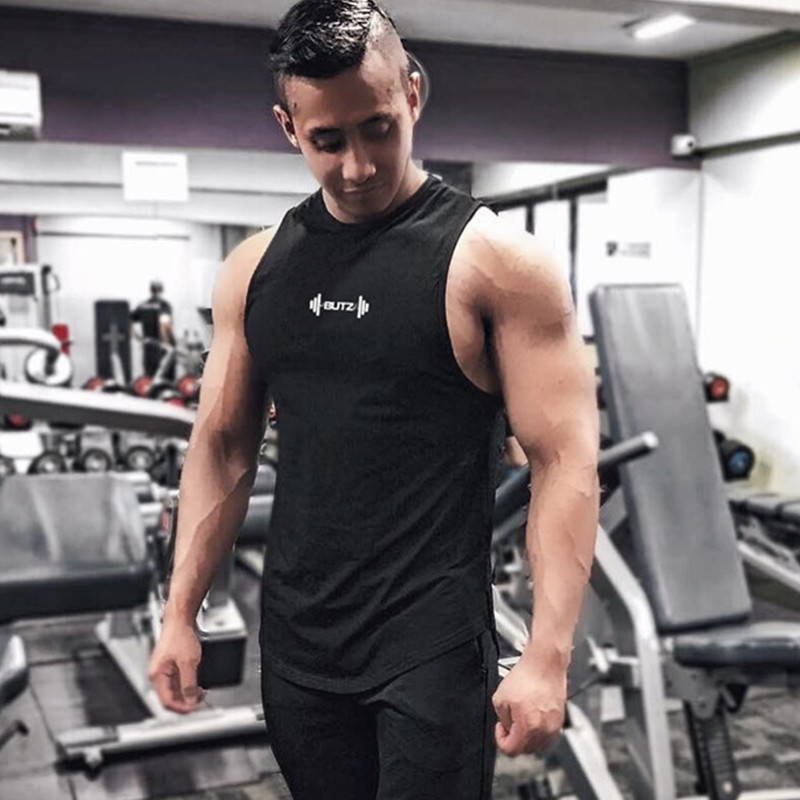 2019 New summer casual Mens tank tops sleeveless high quality Bodybuilding Joggers loose vest gyms fitness clothing singlet