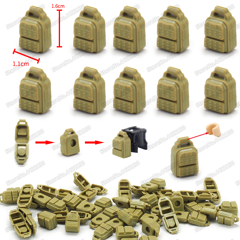 ww2 battlefield Special police army PUBG dedicated Building Blocks supply backpack DIY military Figures Christmas Gift Toys