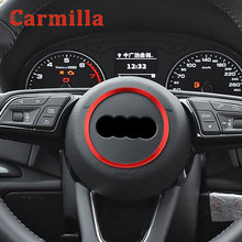 Car Styling Auto Steering Wheel Hub Cover Accessories Decoration Sticker Ring Case