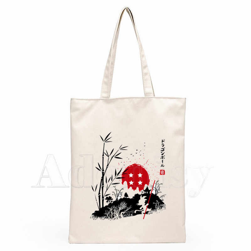 Dragon Ball Dames Handtassen Doek Canvas Draagtas Winkelen Reizen Vrouwen Eco Herbruikbare Schouder Shopper Tassen Bolsas De Tela